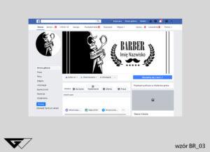 Grafiki na facebook barber, salon fryzjerski, czarno biała, szybka realizacja