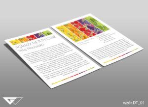 Ulotka dla dietetyka smacznie, zdrowo, kolorowo