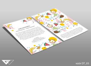 Ulotka dla dietetyka rysunkowa, kolorowa, tanio