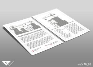 Ulotka dla firmy remontowo - budowlanej prosta, szybka realizacja
