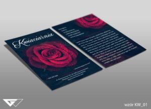 Ulotka dla kwiaciarni elegancka, stylowa, z charakterem