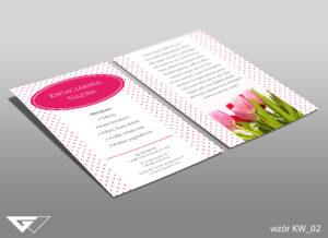 Ulotka dla kwiaciarni kwiaty, bukiety, tulipany, róże