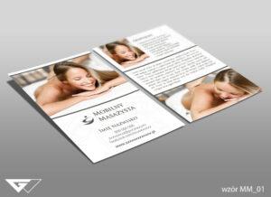 Ulotka dla mobilnego masażysty zdrowie, przyjemność, komfort