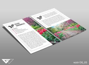 Ulotka dla ogrodnika ogród, kwiaty, rośliny