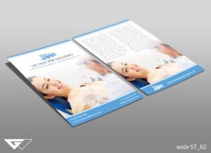 Ulotka dla dentysty uśmiech, zdrowie, zabiegi