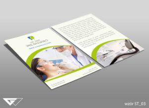 Profesjonalna ulotka dla dentysty doświadczenie, rzetelność, usługi na wysokim poziomie