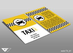 Ulotka dla przewoźnika taxi samochód, przewóz, wygoda