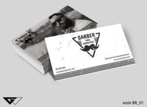 wizytówka dla barbera