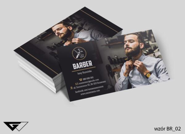 Wizytówka dla barbera, sklep męski, fryzjer męski, elegancka