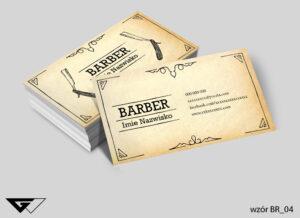 Wizytówka dla Barbera stylowa z charakterem