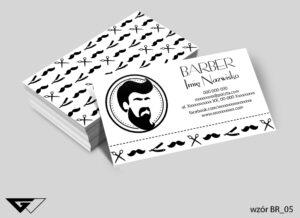 Wizytówka dla barbera klasyczna , czarno biała