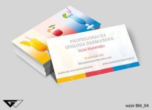 Kolorowa wizytówka dla barmana szybka dostawa