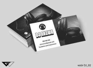 Oryginalna, czarno biała wizytówka dla DJ- a