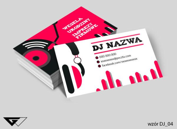 Wizytówka dla DJ- a kolorowa, wesoła, profesjonalna