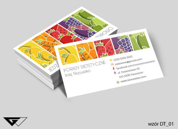 Wizytówka dla dietetyka smacznie i zdrowo