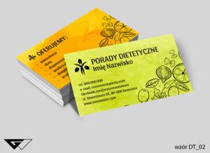 Tania wizytówka dla dietetyka prosta