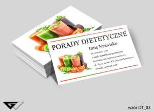 Wizytówka dla dietetyka tanio i szybko
