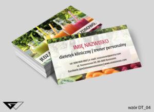Wizytówka dla dietetyka, kolorowa, profesjonalna