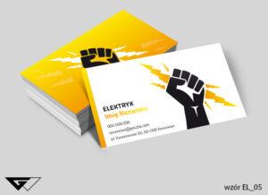 Wizytówka dla elektryka, moc, energia, siła