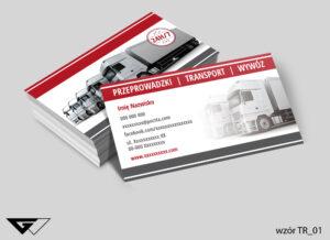 Wizytówka dla firmy transportowej, szybko, tanio, tir