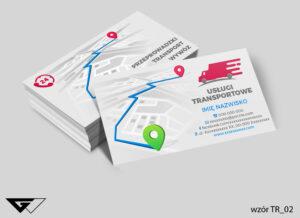 Wizytówki dla firmy transportowej szybka realizacja