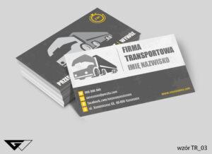 Wizytówki dla firmy transportowej, przewóz, przeprowadzki