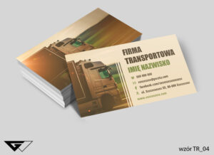 Wizytówki dla firmy transportowej profesjonalne, oryginalne, samochód