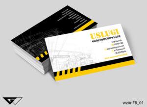 Wizytówka dla firmy budowlanej, nowoczesna, profesjonalna