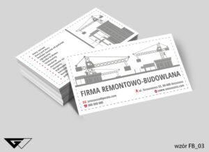 Tanie wizytówki dla firmy remontowo - budowlanej, szybka realizacja
