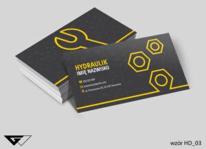 Tanie wizytówki dla hydraulika szybka realizacja