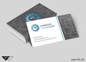 Wizytówki dla hydraulika proste, tanie, profesjonalne