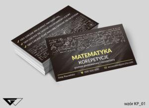 Wizytówki dla korepetytora matematyki liczby, cyfry, działania