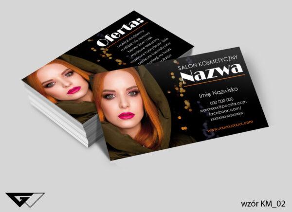 Wizytówki dla salonu kosmetycznego profesjonalnie, estetycznie, kobieco