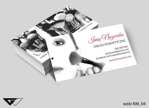 Wizytówki dla mobilnego salonu kosmetycznego pięknie, zmysłowo