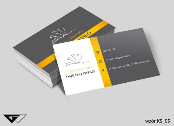 Tanie wizytówki dla księgowego szybka realizacja, pełny profesjonalizm