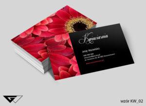 Piękne wizytówki dla kwiaciarni, stylowe, estetyczne