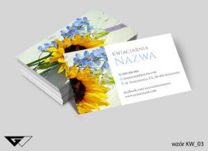Kwiatowa wizytówka dla kwiaciarni kolorowa, wiosenna