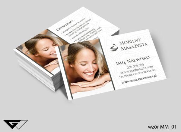 Wizytówki dla mobilnego masażysty profesjonalnie, przyjemnie