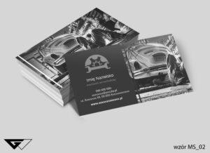 Wizytówki dla mechanika samochodowego szybko, tanio, profesjonalnie