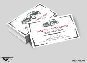 Wizytówki dla warsztatu samochodowego klasyczne, profesjonalne