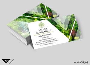 Wizytówki dla ogrodnika przyroda, profesjonalizm