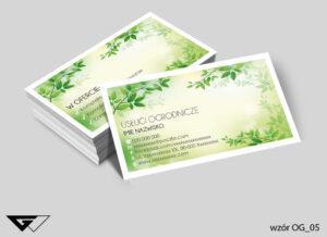 Wizytówki dla ogrodnika listki, rośliny, zielone