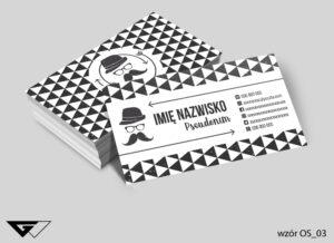 Uniwersalne wizytówki osobowe profesjonalne, czarno białe