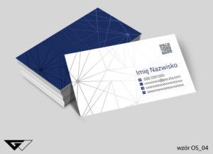Uniwersalne wizytówki osobowe profesjonalne, białe, granatowe
