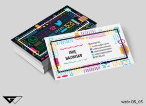 Uniwersalne wizytówki osobowe profesjonalne, kolorowe