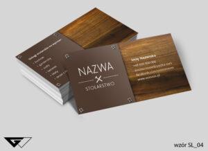 Wizytówki dla stolarza profesjonalne, drewno, szybka realizacja