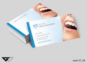 Wizytówki dla dentysty klasyczne, estetyczne, uśmiech