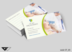 Profesjonalne wizytówki dla dentysty szybka, tania realizacja