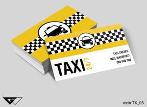 Wizytówki dla taxi transport, przewóz, wygoda, szybka realizacja