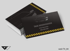 Wizytówki dla przewoźnika taxi czarna, tanio, szybka realizacja